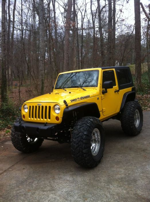 lifted jeep wrangler yellow tires 1999 32inch